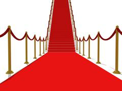 Red carpet stairs - stairway to fame Stock Illustration