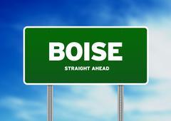 Boise, Idaho valtatie merkki Piirros
