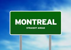 Montreal highway  sign Stock Illustration