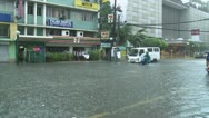 Stock Video Footage of Urban Flooding In Downtown Manila Philippines
