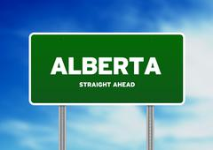 Alberta highway  sign Stock Illustration