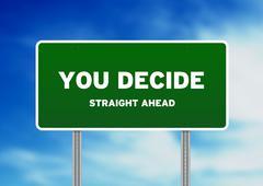 you decide highway sign - stock illustration