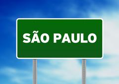 Sao paulo highway sign Stock Illustration
