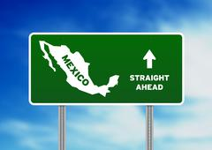 Mexico highway sign Stock Illustration
