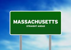 Massachusetts highway sign Stock Illustration