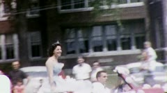 PARADE QUEEN Beauty Contest Parade 1960s (Vintage 8mm Film Home Movie) 3163 Stock Footage