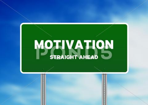 Stock Illustration of motivation street sign
