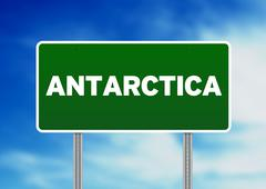 Stock Illustration of antarctica highway sign