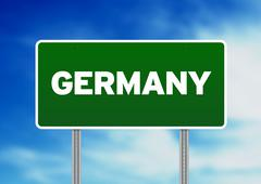 germany highway  sign - stock illustration