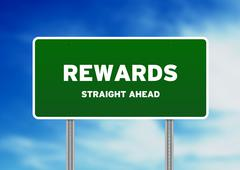 Rewards highway  sign Stock Illustration