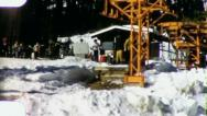 Stock Video Footage of CHAIR LIFT Snow Skiing (Vintage Film Old Home Movie Footage) 3161