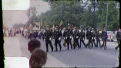 Cops POLICE MARCH in UNISON Parade 1960 Vintage Film Home Movie 3167 Stock Footage