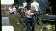 Stock Video Footage of CHOPPING WOOD CUB SCOUT Campout 1960s (Vintage Retro Film Home Movie) 3174