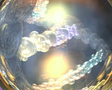 computer animated video clip of a strand of dna rotating around a medical symbol - stock footage