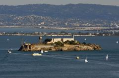 Alcatraz prison in san francisco bay Stock Photos