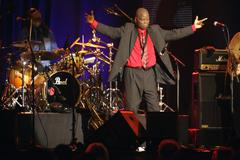 maceo parker on stage - stock photo