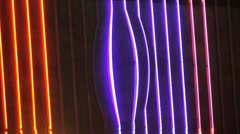 Neon Sign Bulge Loop Stock Footage