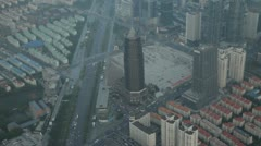 Aerial shot of Shanghai Stock Footage