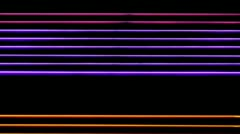 Horizontal Neon Stripes Colored Stock Footage