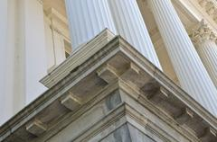 Symbolic pillars from government building Stock Photos