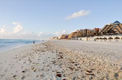 Cancunissa Meksikossa ranta Kuvituskuvat