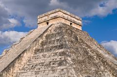 chichen itza modern seven wonders of the world in mexico - stock photo