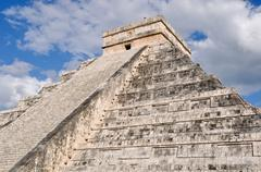 Chichen itza modern seven wonders of the world in mexico Stock Photos