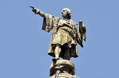 Christopher columbus day statue Stock Photos