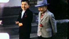 Happy Boys Mafia Gangsters Businessmen Suits 1960s Vintage Film Home Movie 3193 - stock footage