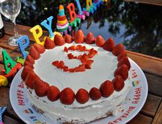 happy third birthday! - stock photo