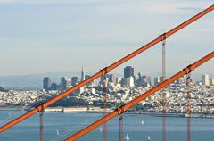golden gate bridge san francisco california - stock photo