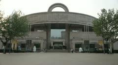 Shanghai museum Stock Footage