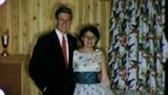 TEENAGE PROM COUPLE High School 1960 (Vintage Old Film Home Movie) 3207 Stock Footage