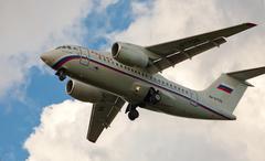 Airplane  antonov 148 Stock Photos