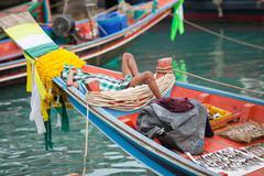 burma fisherman - stock photo