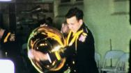 TUBA PLAYER High School Band Orchestra 1955 (Vintage Film Home Movie) 3217 Stock Footage