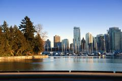 City of downtown vancouver, english bay Stock Photos