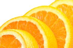 Close-up juicy orange pattern Stock Photos