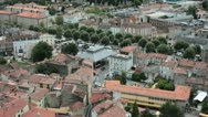 Foix's Roofs 02 - French medieval City Stock Footage