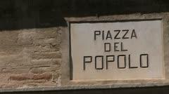 Italy - Abruzzi - Vasto - Piazza del Popolo Stock Footage