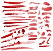 Set of bloody spots Stock Illustration