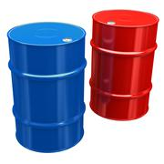 Oil barrels Stock Illustration