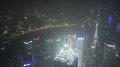 Aerial time lapse of Shanghai and Pudong Stock Footage