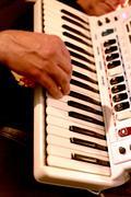 Playing accordion - stock photo