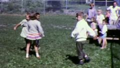 KIDS Children DANCE Record Player Party 1960s Vintage Film Home Movie 3241 Stock Footage