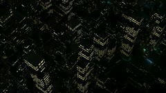 Urban district lights seen from above in 1080p - stock footage