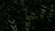Urban district lights seen from above in 1080p Stock Footage