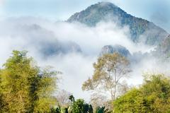 lao moutain landscape - stock photo