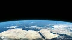Earth from space, Europe, Africa, Asia. - stock footage