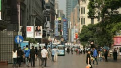 The world famous Nanjing Road in Shanghai, China Stock Footage